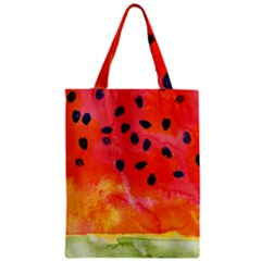 Abstract Watermelon Zipper Classic Tote Bag by DanaeStudio