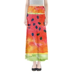 Abstract Watermelon Maxi Skirts by DanaeStudio