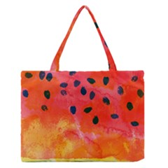 Abstract Watermelon Medium Zipper Tote Bag by DanaeStudio