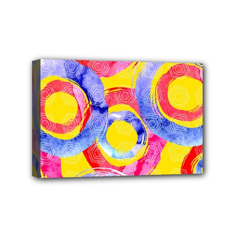Blue And Pink Dream Mini Canvas 6  X 4  by DanaeStudio