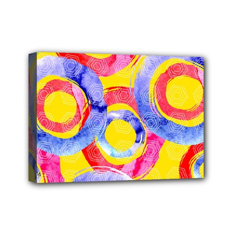Blue And Pink Dream Mini Canvas 7  X 5  by DanaeStudio
