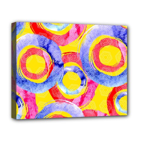 Blue And Pink Dream Deluxe Canvas 20  X 16   by DanaeStudio