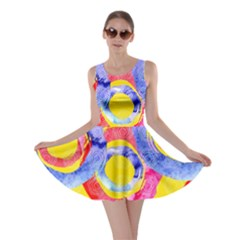 Blue And Pink Dream Skater Dress by DanaeStudio