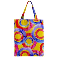 Blue And Pink Dream Zipper Classic Tote Bag by DanaeStudio