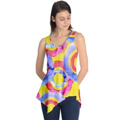 Blue And Pink Dream Sleeveless Tunic by DanaeStudio