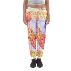 Colorful Pineapples Over A Blue Background Women s Jogger Sweatpants by DanaeStudio