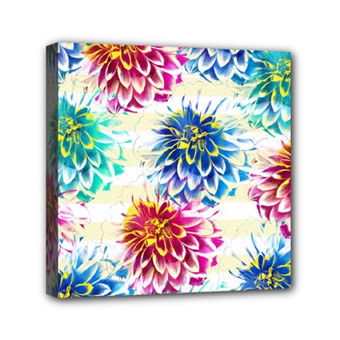 Colorful Dahlias Mini Canvas 6  x 6