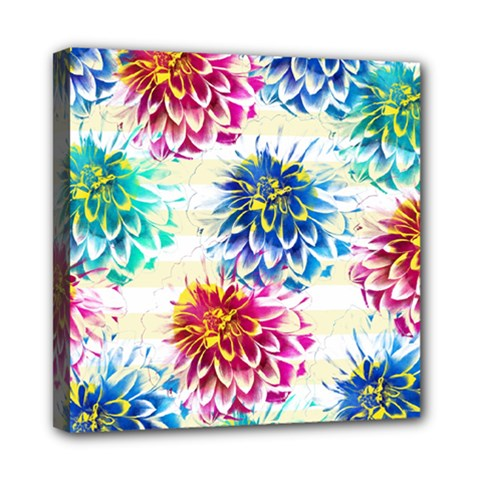 Colorful Dahlias Mini Canvas 8  x 8