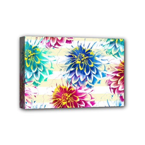 Colorful Dahlias Mini Canvas 6  X 4  by DanaeStudio