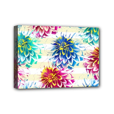 Colorful Dahlias Mini Canvas 7  x 5