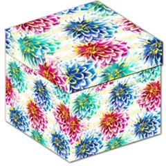 Colorful Dahlias Storage Stool 12
