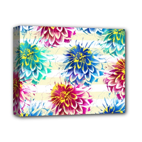 Colorful Dahlias Deluxe Canvas 14  x 11