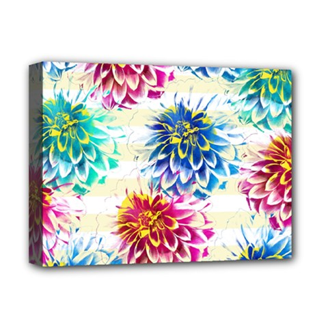 Colorful Dahlias Deluxe Canvas 16  x 12