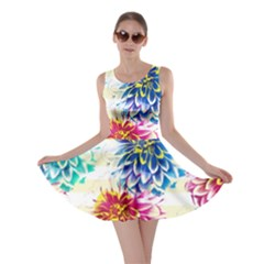 Colorful Dahlias Skater Dress by DanaeStudio