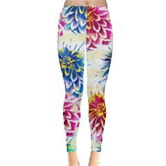 Colorful Dahlias Leggings