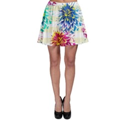 Colorful Dahlias Skater Skirt by DanaeStudio