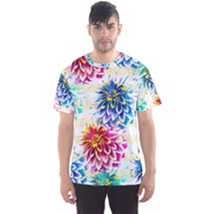 Colorful Dahlias Men s Sport Mesh Tee