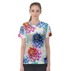 Colorful Dahlias Women s Sport Mesh Tee