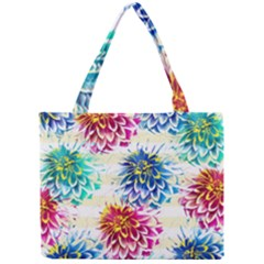 Colorful Dahlias Mini Tote Bag