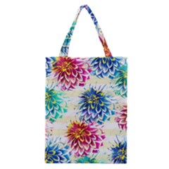 Colorful Dahlias Classic Tote Bag by DanaeStudio