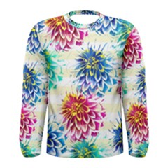 Colorful Dahlias Men s Long Sleeve Tee
