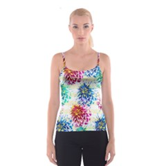 Colorful Dahlias Spaghetti Strap Top