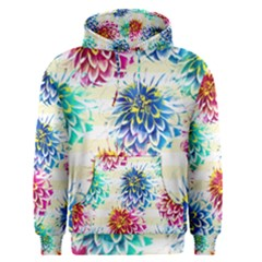 Colorful Dahlias Men s Pullover Hoodie