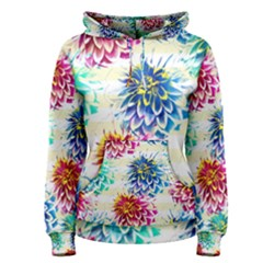 Colorful Dahlias Women s Pullover Hoodie