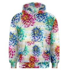 Colorful Dahlias Men s Zipper Hoodie