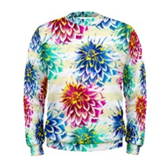 Colorful Dahlias Men s Sweatshirt