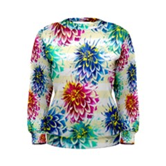 Colorful Dahlias Women s Sweatshirt