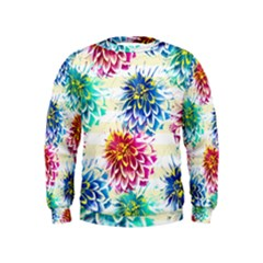 Colorful Dahlias Kids  Sweatshirt