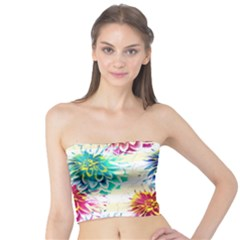 Colorful Dahlias Tube Top