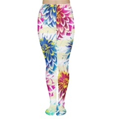Colorful Dahlias Women s Tights