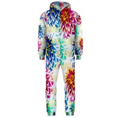Colorful Dahlias Hooded Jumpsuit (Men)