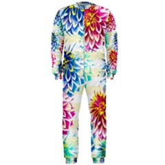 Colorful Dahlias OnePiece Jumpsuit (Men)