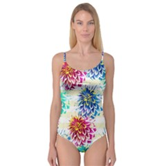 Colorful Dahlias Camisole Leotard