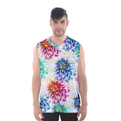 Colorful Dahlias Men s Basketball Tank Top