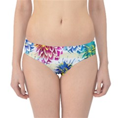 Colorful Dahlias Hipster Bikini Bottoms