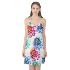 Colorful Dahlias Camis Nightgown