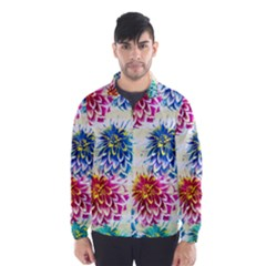 Colorful Dahlias Wind Breaker (Men)