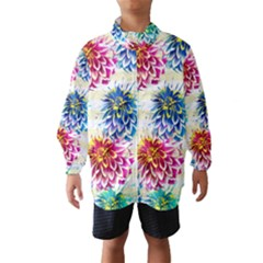 Colorful Dahlias Wind Breaker (Kids)