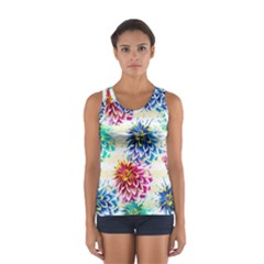 Colorful Dahlias Women s Sport Tank Top