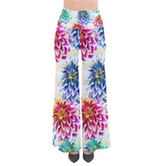 Colorful Dahlias Pants