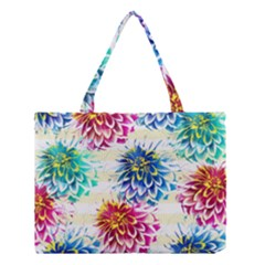 Colorful Dahlias Medium Tote Bag
