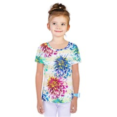 Colorful Dahlias Kids  One Piece Tee