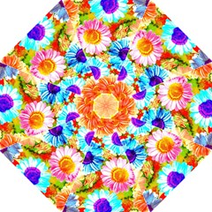 Colorful Daisy Garden Straight Umbrellas by DanaeStudio