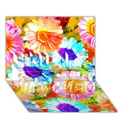 Colorful Daisy Garden You Are Invited 3d Greeting Card (7x5) by DanaeStudio