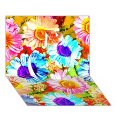 Colorful Daisy Garden Apple 3d Greeting Card (7x5) by DanaeStudio