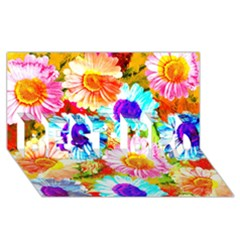 Colorful Daisy Garden Best Bro 3d Greeting Card (8x4) by DanaeStudio
